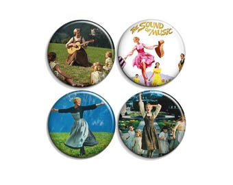 """The sound of music - pinback buttons or magnets  1.5"""""""