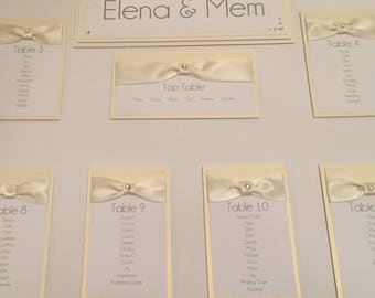 Ann - Personalised Wedding Seating Table Plan A3,A2 and A1 Many Colours Available