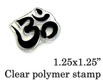 P49 OM-Ohm crystal clear polymer rubber stamp