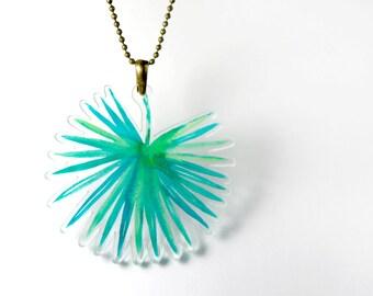 Acrylic Necklace PALM LEAF Finart-Jewellery