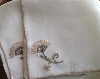 Serviettes de table Vintage