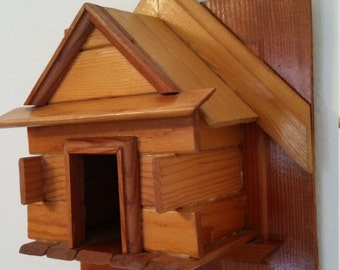 Vintage Mid-Century Birdhouse, Bird Envy
