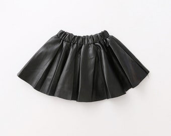 Faux Leather Toddler Skirt