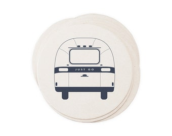 Airstream Camper - Letterpressed Paper Coasters