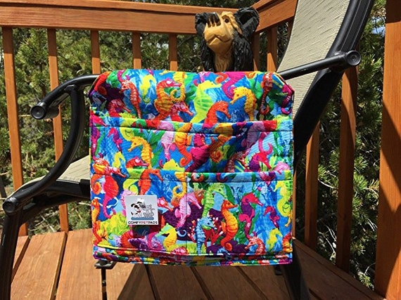 Seahorse Walker Bag, Chair Caddy, Colorful Gifts, Stroller Organizer, Beach Accessories, Size 13x13x27