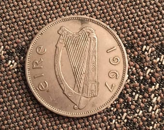1967 Ireland Eire 1/2 crown