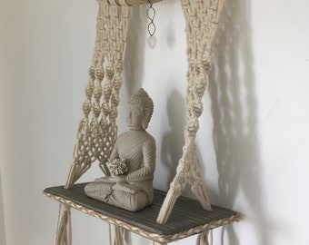 Simple Elegance Macrame Shelf