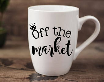 Off the market - 14 oz CERAMIC MUG - fiancee gift, engagement gift
