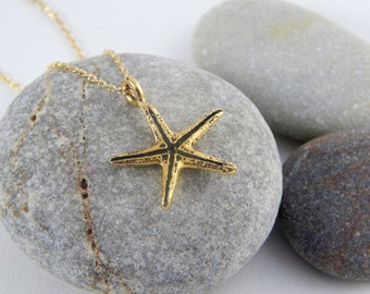 Gold starfish anklet, sea star anklet, gold anklet, gold ankle bracelet, elegant anklet, shinny anklet, minimalist anklet, beach jewelry 117