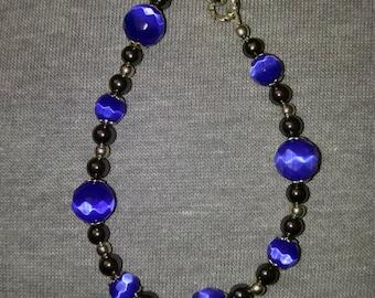 Handmade Cobalt Blue Beaded Bracelet