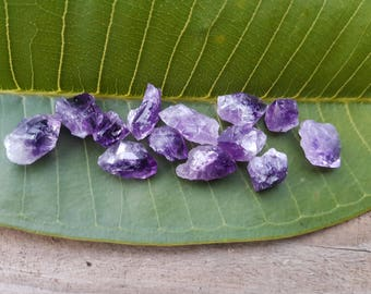 Raw natural amethyst crystal points small size 25, 50 &100g