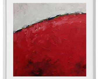 Abstract Painting, Original Abstract Painting, Red Abstract, Small Abstract Painting, 15x15 cm, 6x6 Inches Canvas, Original Abstract Art