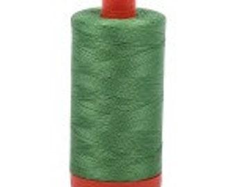 Green Yellow Aurifil Mako Cotton Thread Color 2884, 50 wt, 1300m, 1 spool