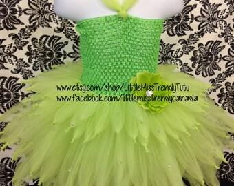 Tinkerbell Tutu Dress Size 1-3T, Disney Tinkerbell Inspired Tutu Dress, Green Fairy Tutu Dress, Tutu Fairy Dress, Fairy Tutu Costume