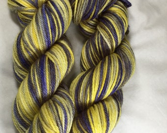 Hand-dyed Worsted Merino, Silk, Baby Alpaca - French Country