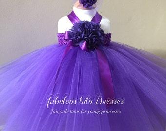 Purple Baby Tutu Dress.