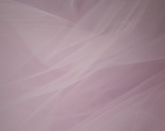 "Light Pink Tulle Fabric 56"" Wide Per Yard"