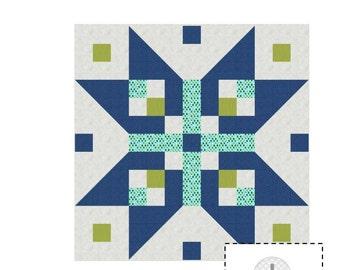 Luminous mini quilt pattern - downloadable pdf