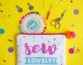 Sewing kit- pouch- purse- -canvas purse- sewing supplies