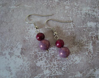 Fancy purple dangle earrings