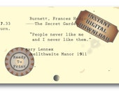 People Book Quote Printable ~ Mary The Secret Garden Digital File