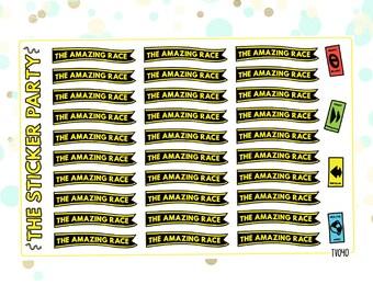 Amazing Race Planner Stickers