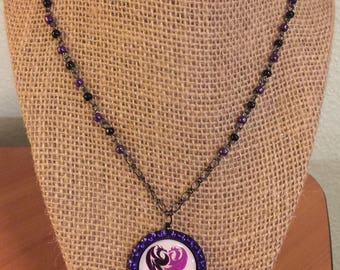 Descendants Mal Bottlecap Necklace