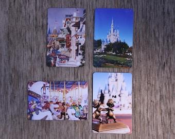 Set of 4 refrigerator magnets, disney photography, photo magnet, Disney decor