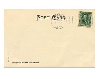 Digital Postcard Template, Postcard Download, Vintage Postcard Printing, Vintage Postcard Scrapbook #8