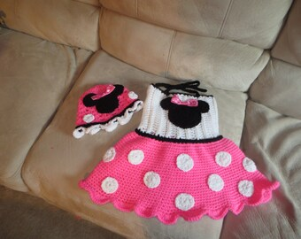 Crochet Minnie Mouse Dress And Hat