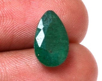 Emerald 3.9 Cts Emerald  Pear    Shape Gemstone 12.40X7.75 MM Size Natural Emerald Loose Pear   shape Gemstone 07
