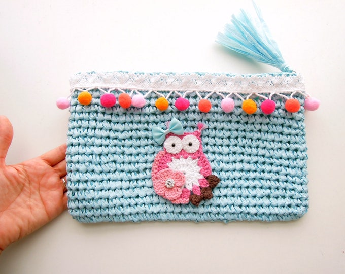 Baby Nappy Bag, Blue Diaper Purse, Nappy Clutch Bag, Blue Nappy Wallet, Baby Boy Shower Gift, Diaper Clutch, Blue Nappy Pouch.