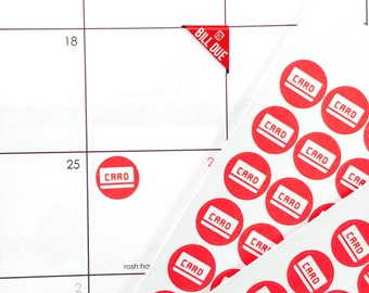 Set of 42 Mini Credit Card Stickerrs for Various Planners, Calendar, Journals