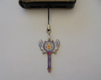 Star vs the Forces of Evil Third season wand -Mobile Keychain - Landyard