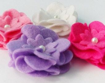 Aplique rosas, aplique fieltro, figuras fieltro, accesorios cabello, flores fieltro, rosas fieltro, flores, adornos broches