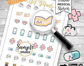 Medical Planner Stickers, Planner Printables, Stickers For Planners, Planning Decor, Decorating Stickers, Doctor Stickers