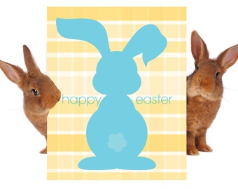 Happy Easter Sign- Happy Easter Poster- Easter Poster- Easter Bunny Poster- Easter Bunny Sign
