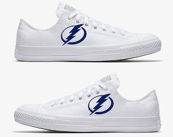 Converse Hand Painted Tampa Bay Lightning Hockey