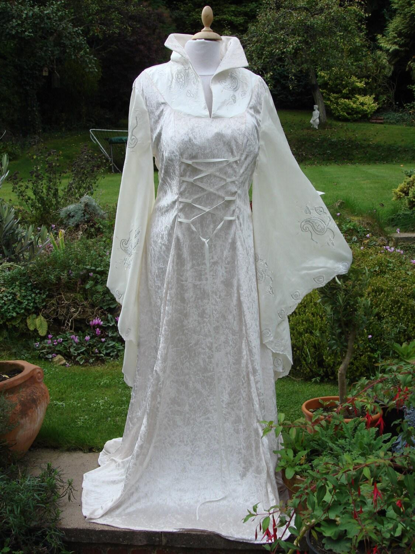 High collar Ivory fairy medieval renaissance pagan