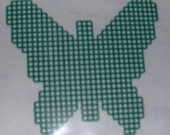 pre cut plastic canvas butterfly