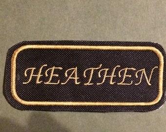 Heathen iron-on Patch