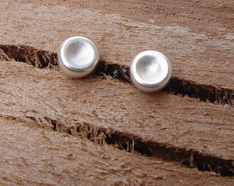 Sterling Silver Stud Earrings, Silver Studs, Sterling Silver Earring, Small (4mm) Pebble Silver Stud Earring, Stud Earrings