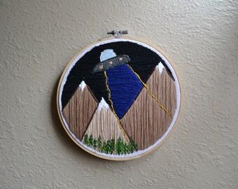 Scully! Mountain Landscape- Hoop Art