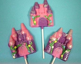 Princess Castles chocolates lollipops 12