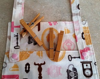 Clothespin Bag- Daisy Cottage Print