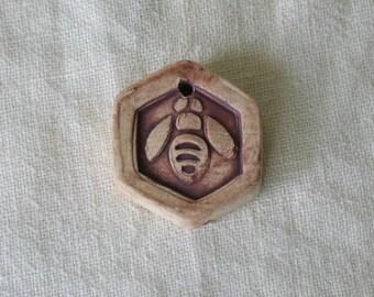 Bee Bead, one, ceramic
