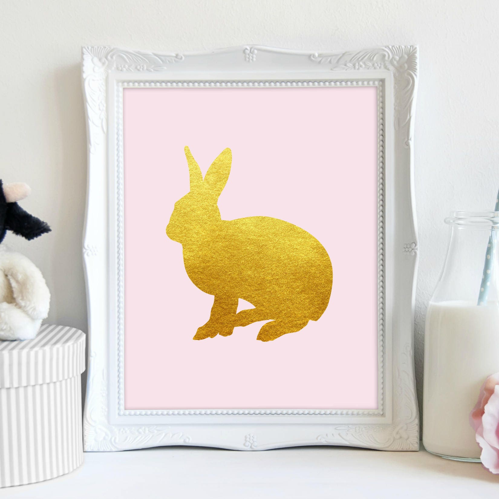 Enchanting Bunny Wall Decor Composition - Wall Art Collections ...