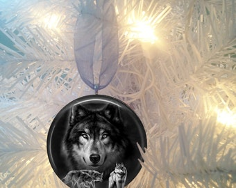 Wolf Spirit #4 Christmas Tree Ornament