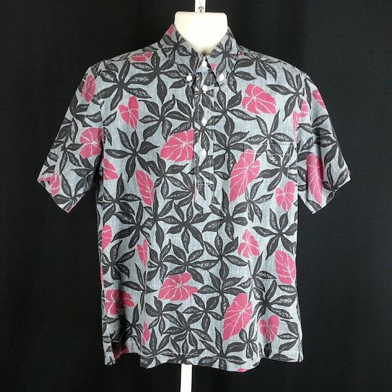 Vintage Hawaiian Tiki print shirt Tori Richard tapa geometric shell buttons size L large chest 47in. eoIpsAS