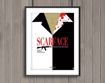 SCARFACE, minimalist movie poster